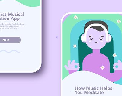 Meditation App UI Illustrations