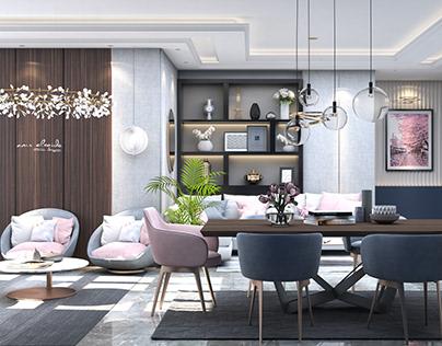 Modern Reception Interior design + 360° Render