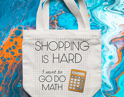 Shopping Tote design for Math lovers