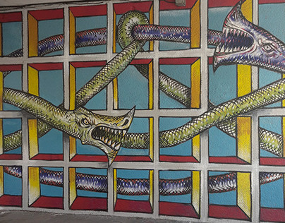 Mural Ouroboros Anarchy