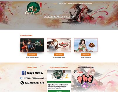 Hoàn thành trọn gói website PHÊ GAME MOBILE