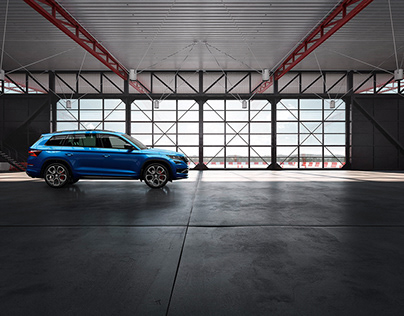 CGI location for Škoda Kodiaq RS