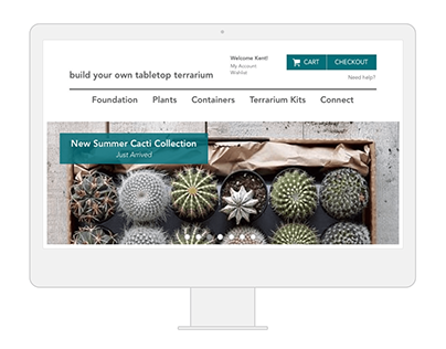 a curated shopping experience: microsite design