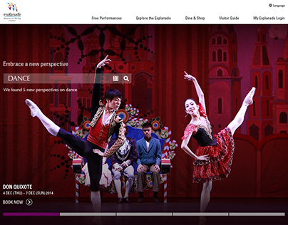 """The Esplanade Web Revamp. """"Embrace A New Perspective"""""""