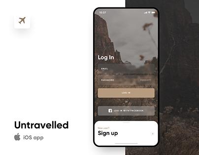 Untravelled iOS app UX/UI