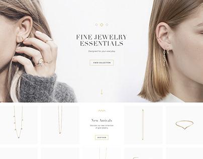 LANDING PAGE: jewelry e-shop