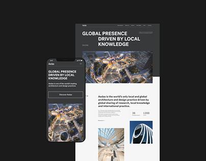 Aedas Website — UX/UI Concept