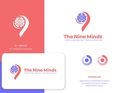 The Nine Minds Logo Design.
