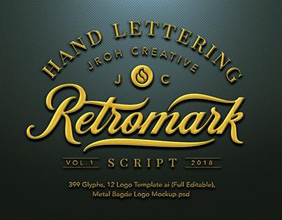 Retro Mark Script $23