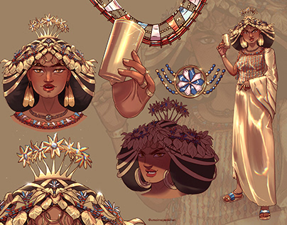 Queen Puabi of Ur - Character Design