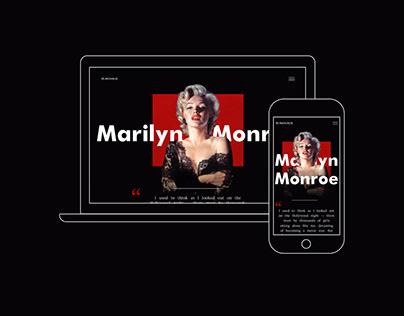 Marilyn Monroe Biography Website