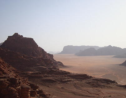 The amazing relief in the Wadi Rum desert in Jordan