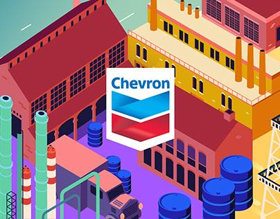 Chevron. Illustrations for the interactive quiz
