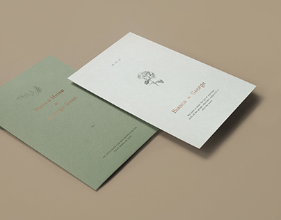 Minimalist Romantic Wedding Invitation Template