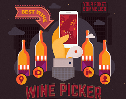 Wine Picker. Site illustrations
