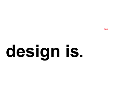 My Design Philosophy