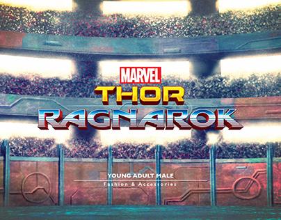 Thor Ragnarok - Male Fashion pitch design.