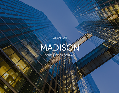 Construction company website concept