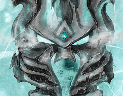 The Lich King Helmet | illustration