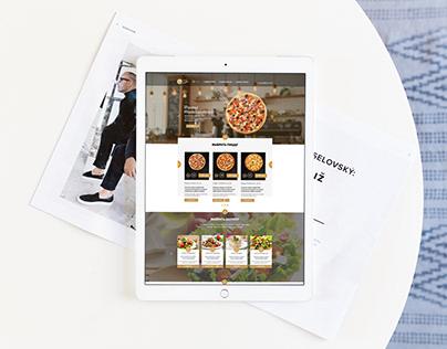 Design website of pizzeria