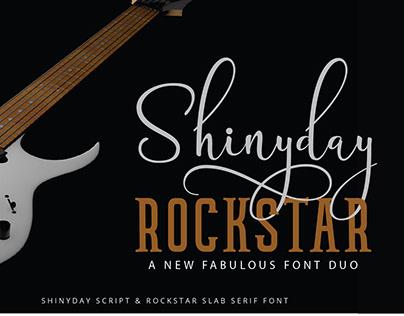 Shinyday & ROCKSTAR fabulous font duo