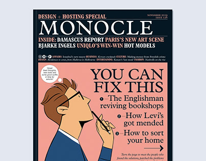 Monocle Magazine cover illustration - Issue 128