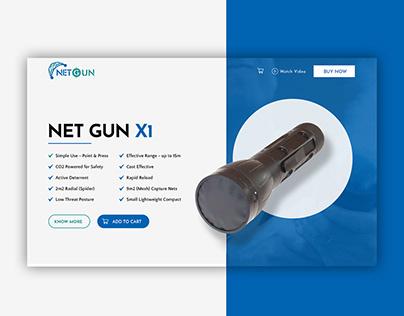 Website design for handheld net launchers