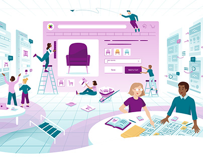 Digital Illustrations for Wayfair