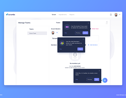Day 893 • Manage Teams Onboarding UI Design