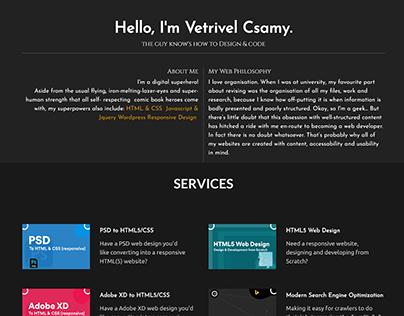 @Vetrivelcsamy Personal Page Final Design