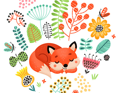 Foxes. Characters, Compositions, and Pattern