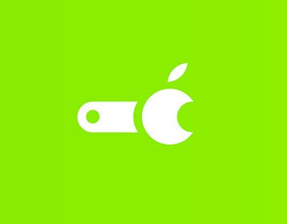 Apple repair logo