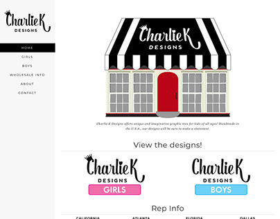Wordpress Site - Charlie K Designs