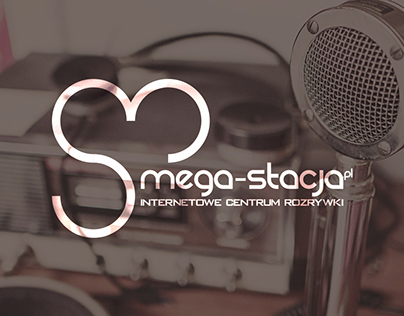 Logo concept for internet radio station Mega-Stacja.pl