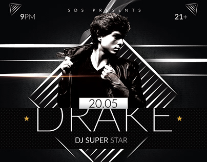 Superstar DJ Flyer