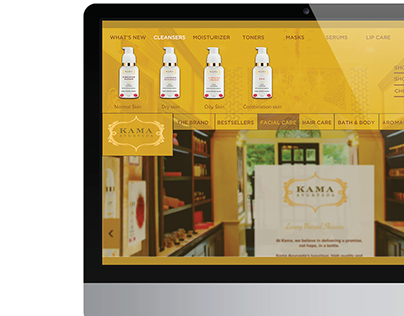 Website Redesign Kama Ayurveda