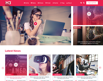 Deaf News website design