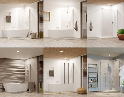 Prima Bella Shower range Renders