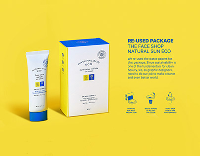Re-used Package : Thefaceshop Natural Eco Sun