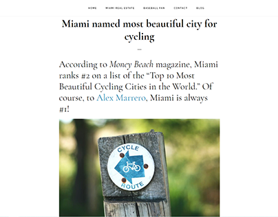 Miami named most beautiful city for cycling