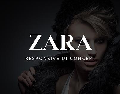 ZARA - Responsive UI Concept