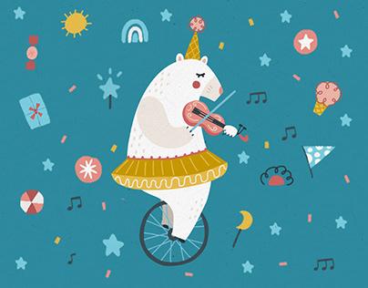 CIRCUS BEAR   Illustration