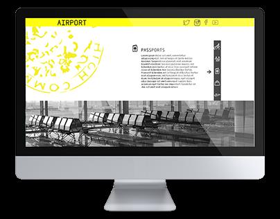 Airport   web design
