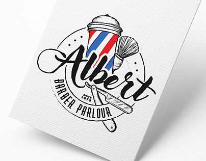 Albert Barber Parlour/Logo/Business Card/A4 Poster/Menù