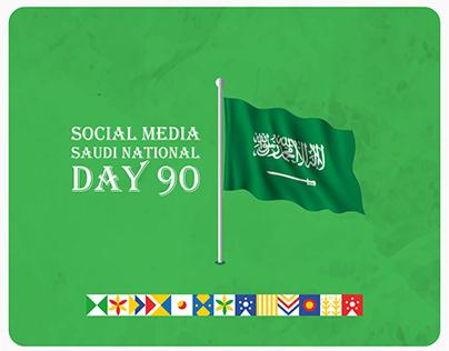 Social Media Saudi National Day 90