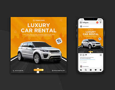 Car rental promotion social media post