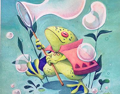 Frog bubble traveler