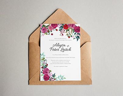Aliysa & Peter's Wedding Invitations