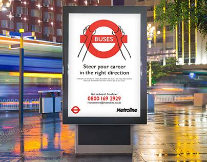 Advertising Campaign Metroline Bus Driver Recruitment