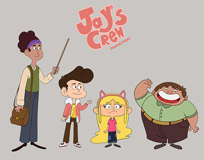 """Jay""""s Crew - Character Design Project"""